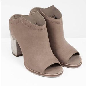 Dolce Vita 'Noa' Taupe Nubuck Leather Mules